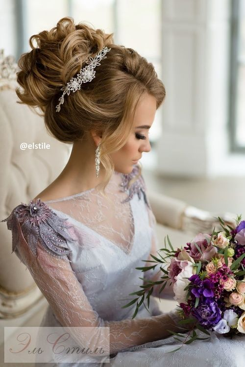 Featured Hairstyle: Elstile;www.elstile.ru; Wedding hairstyle idea....