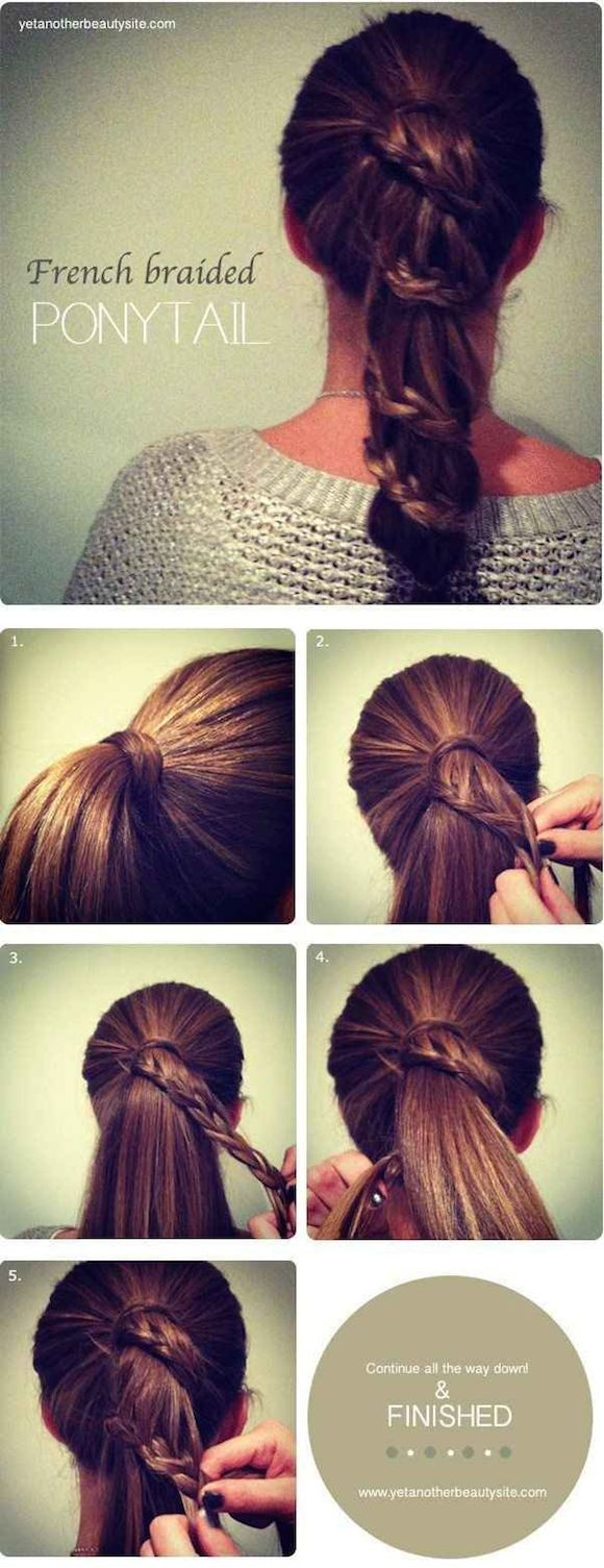 French Braid Ponytail, Different Kind of Braids...