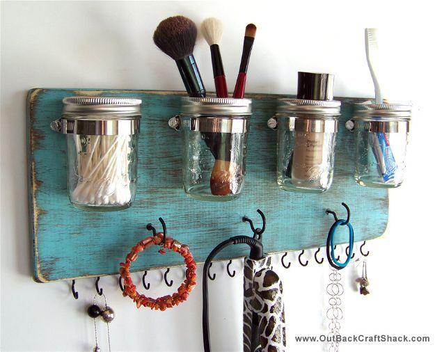 Mason Jars   Makeup Organizers You'll Surely Love...