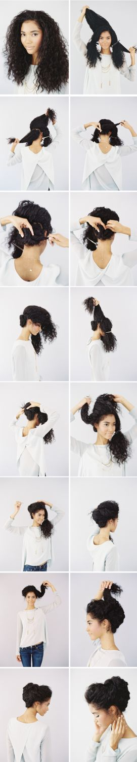 Romantic Updo - Naturally Curly Hair | Awesome Hairstyles For Holiday, Prom, Bir...