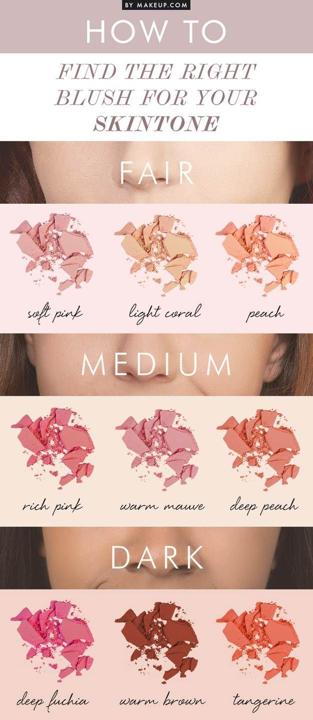 Makeup Guide | How To Choose The Right Blush For Your Skintone (INFOGRAPHICS)...