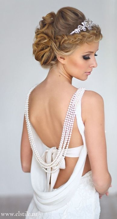 Featured Hairstyle: ELSTILE from www.elstile.com; Wedding hairstyle idea....