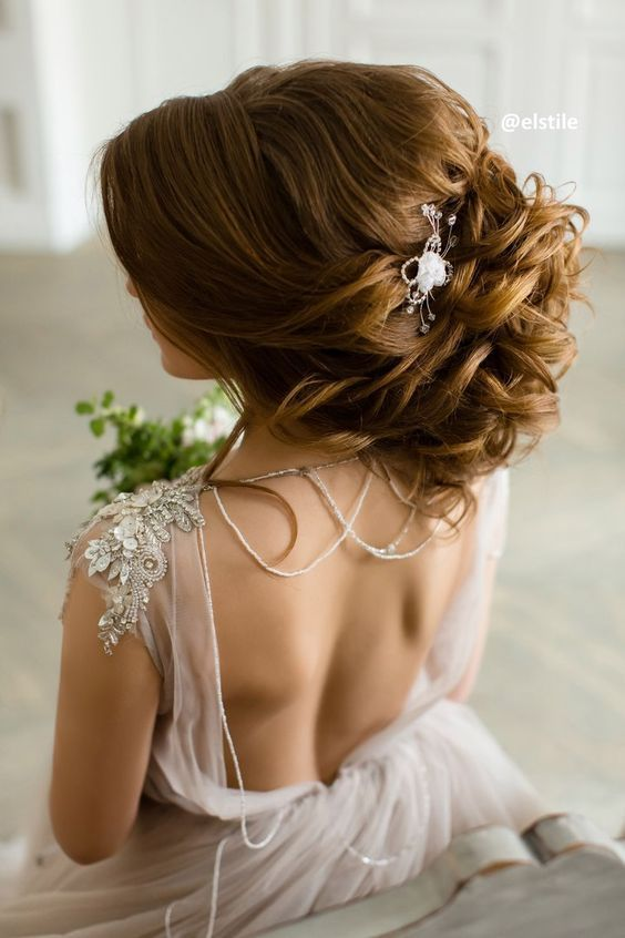 Featured Hairstyle: Elstile; www.elstile.com; Wedding hairstyle idea....
