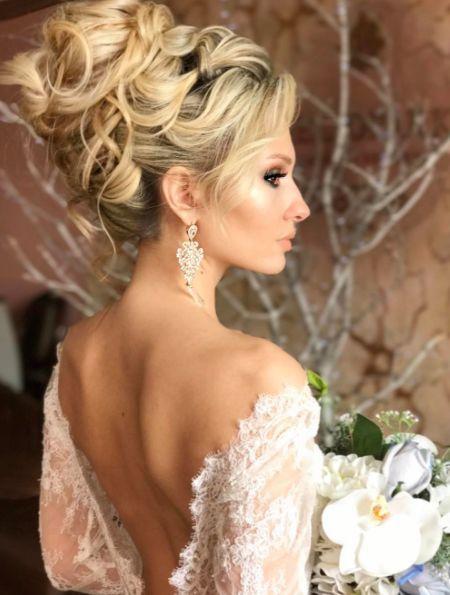 Featured Hairstyle: Websalon Wedding, Anna Komarova; www.websalon.su; Wedding ha...