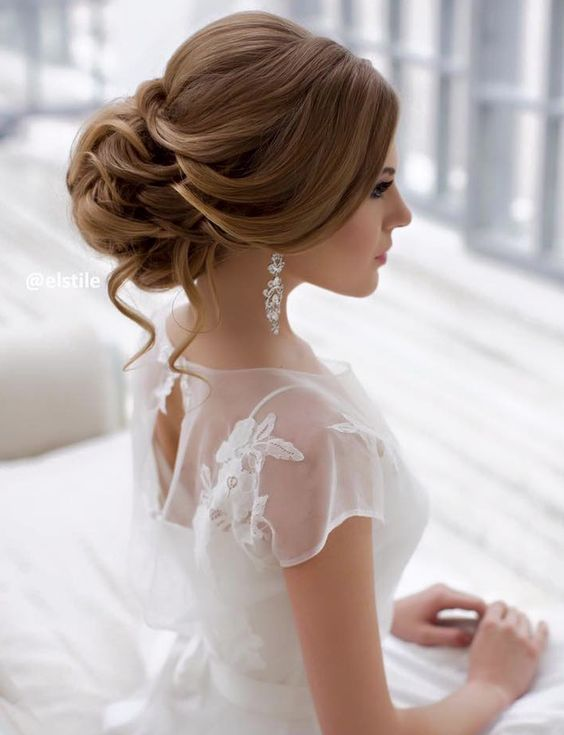 Featured Hairstyle: Elstile; www.elstile.com; Wedding hairstyle idea....