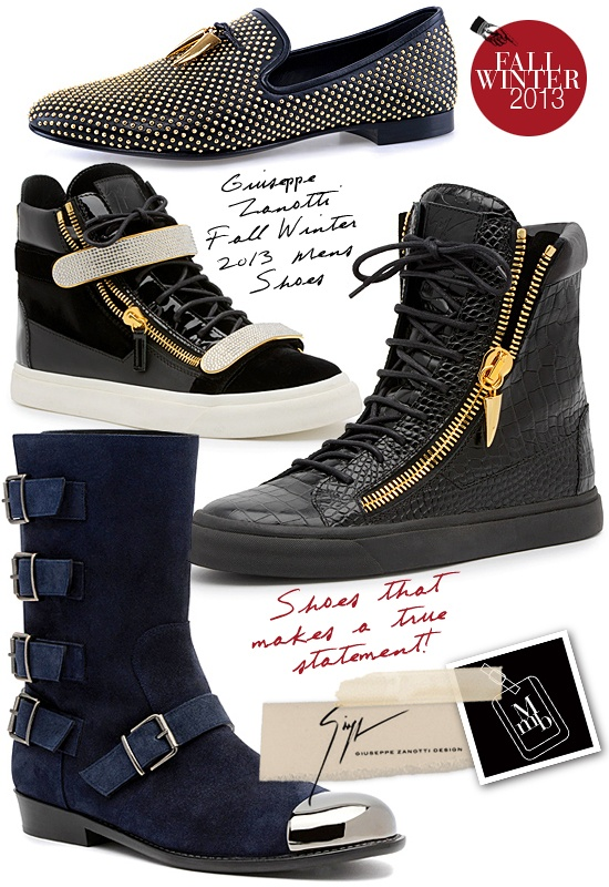 Giuseppe Zanotti's Fall Winter 2013 Mens Shoes...