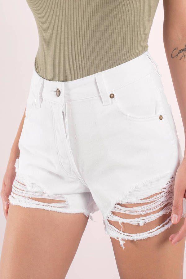 Original Distressed Denim Shorts