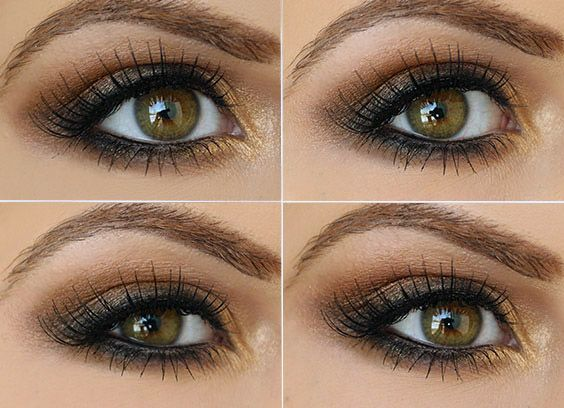 How to Use Brown and Gold on Green Eyes | Daytime Makeup by Makeup Tutorials at ...
