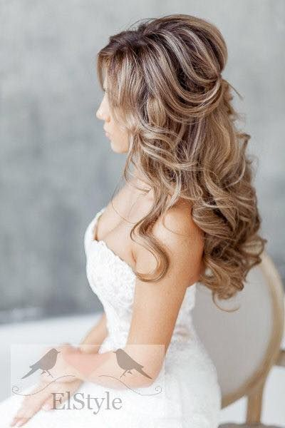 Featured Hairstyle: Elstile; Wedding hairstyle idea....