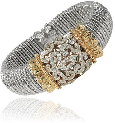 14k gold and sterling silver diamond bracelet via ALWAND VAHAN.