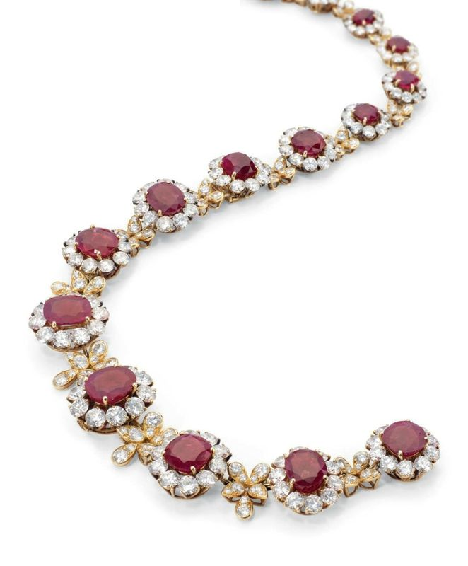 A Burmese ruby and diamond necklace, by Van Cleef & Arpels - Alain.R.Truong