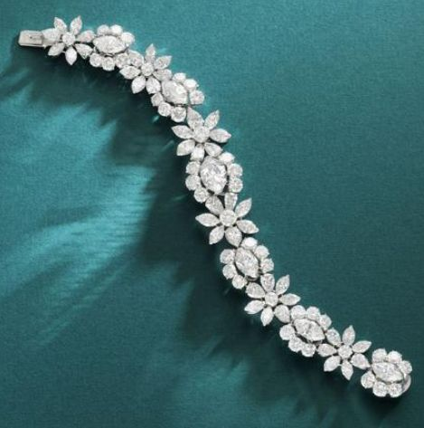 An important diamond bracelet, by Van Cleef and Arpels, circa 1950 The articulat...