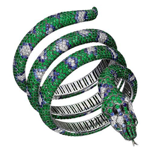 Boucheron bracelet snake emerald sapphire diamond...