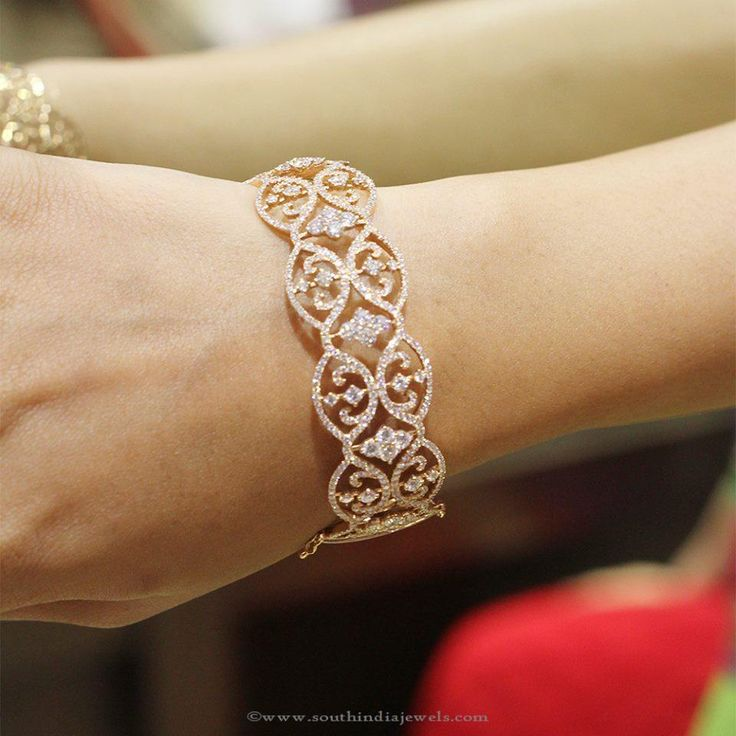 Beautiful Diamond Bangle From Manubhai ~ South India Jewels