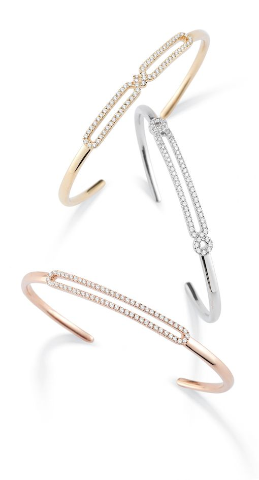 Check out these new Isabelle Brooke diamond cuffs. Perfect for the office to a g...