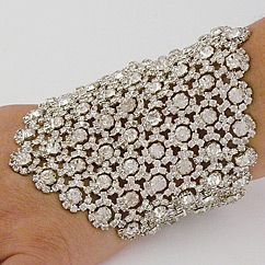 Discover Margaret Rowe Wedding Jewelry. Vintage couture crystal bridal cuffs &am...
