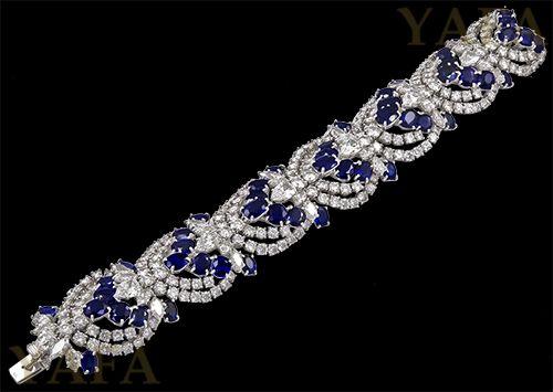 HARRY WINSTON Sapphire and Diamond Bracelet