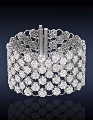 Jacob &Co. | Diamond Mesh Bracelet | Diamond Mesh Bracelet, Featuring: 42.50...