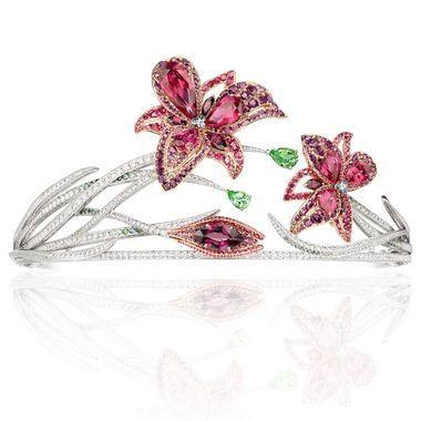 La Nature de Chaumet Passion Incarnat red spinel, garnet, tourmaline and diamond...