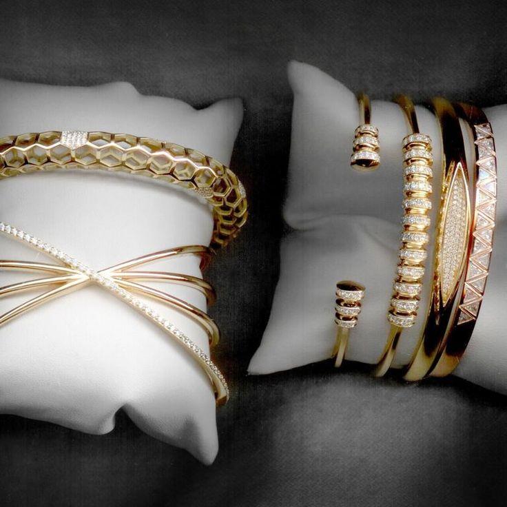 #MelissaKayeJewelry #bracelets in #18k #gold with #diamonds #jewelry…...