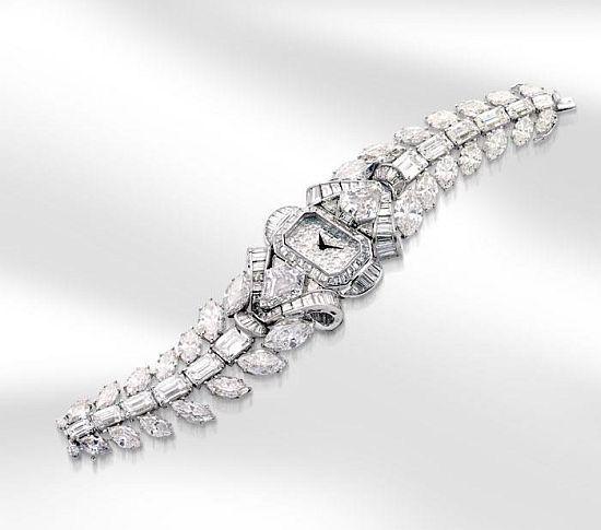 Mouawad's 6.8m snow white princess diamond watch...