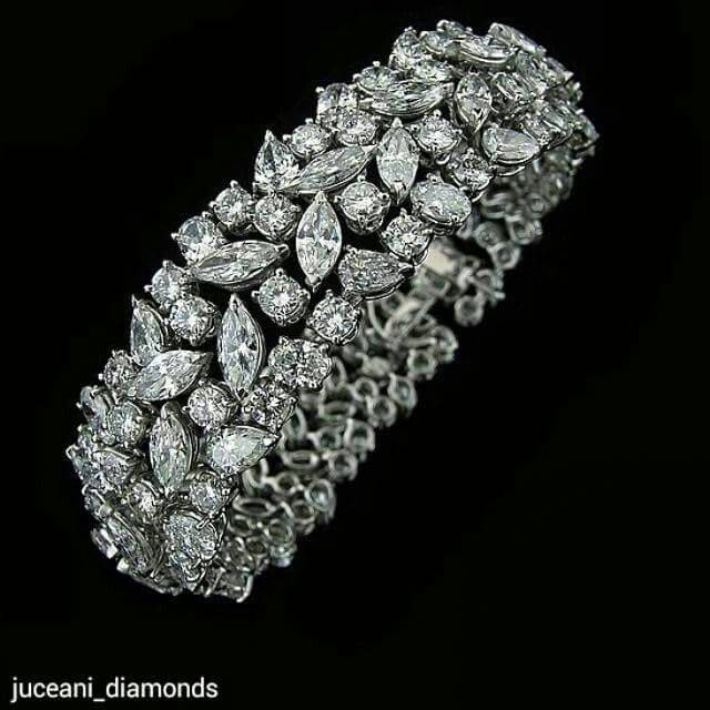 Multi shape diamond bracelet from @juceani_diamonds #WANTNEEDDESIRECOVET…