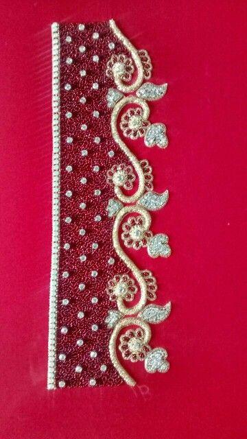 Red extravaganza diamond work caftan 2016...