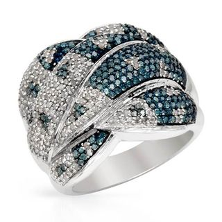 Ring with 1.50ct TW Genuine Diamonds in White Gold...