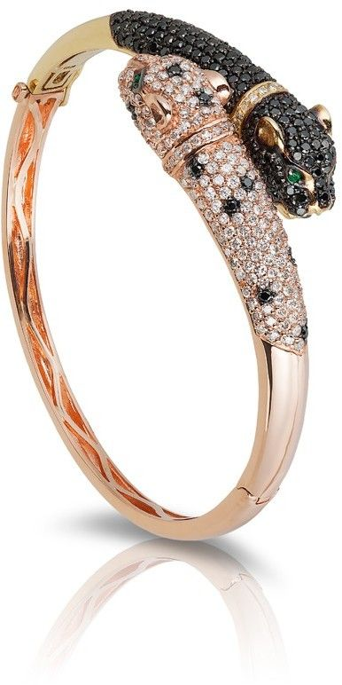Signature Black & White Diamond Bangle, 5.34 TCW...