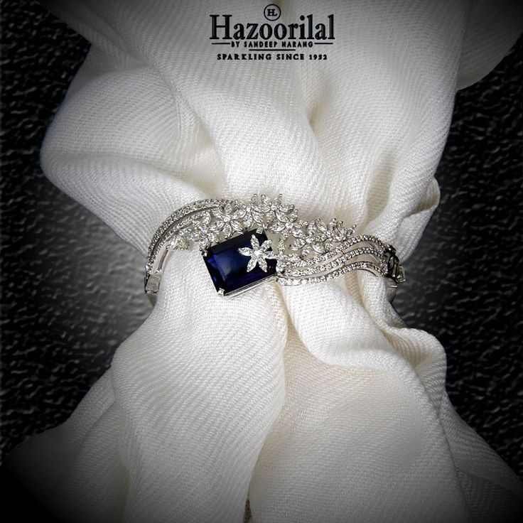 Tanzanite encapsulated by the diamonds make this magnificently exquisite bracele...