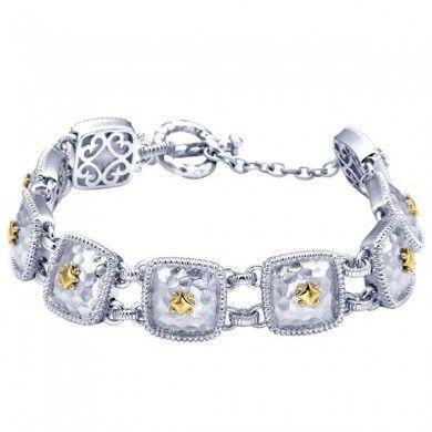 Tennis Bracelet In Silver/18K Gold TB2706MYJJJ...