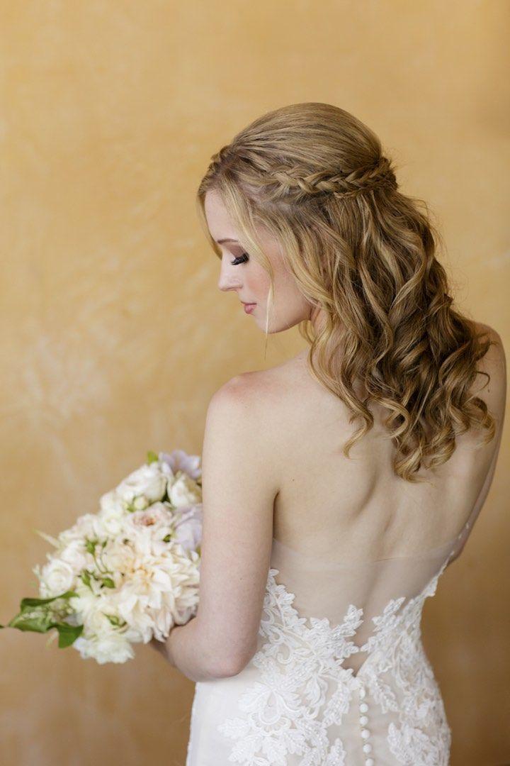 Featured Photographer: Catherine Hall Studios; wedding hairstyle idea...