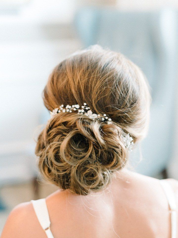 Featured Photographer: Michelle Lange Photography; wedding hairstyle idea, click...