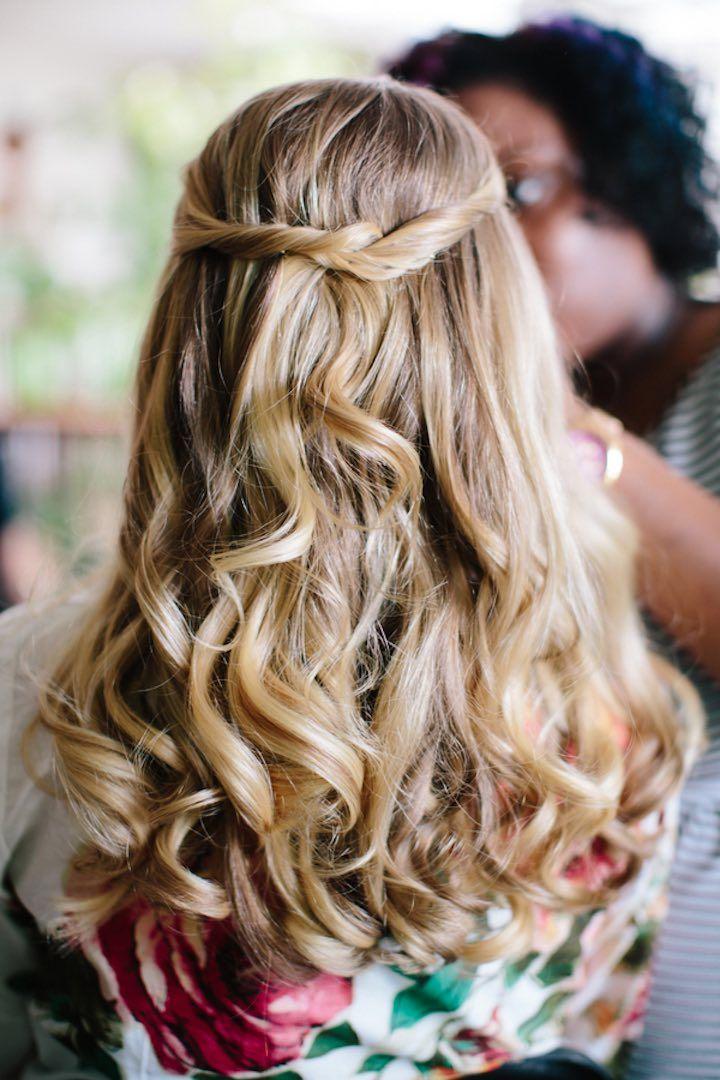 Featured Photographer: Sarah Bradshaw Photography; wedding hairstyle idea, click...