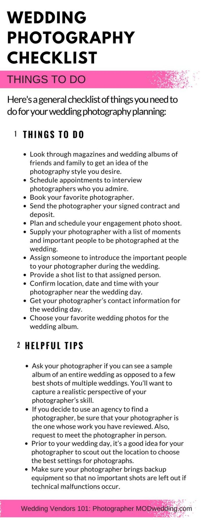 Wedding Photography Checklist: Things to Do...