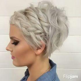 Πλεξούδες σε μαλλιά pixie!