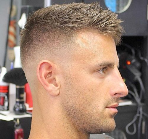 Haircuts For Balding Men - High Bald Fade with Crew Cut...