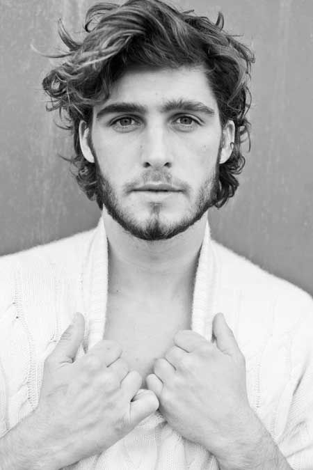 Medium Length Hairstyles Curly Hair Men                                         ...