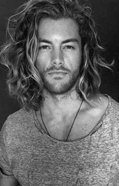 Wavy Surfer Mens Hair Long Length...