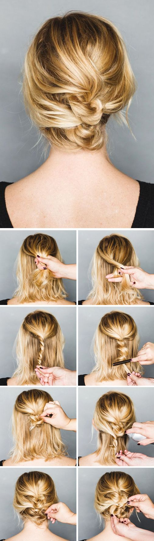 5 Gorgeous Messy Updos For Long Hair | Makeup Tutorials