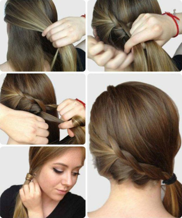 7. Braided Side Ponytail | Be stylish and beautiful even when you cram to prepar...