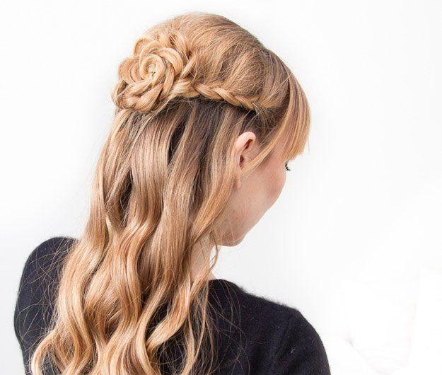 Braided Rose   10 DIY Hairstyles For Long Hair