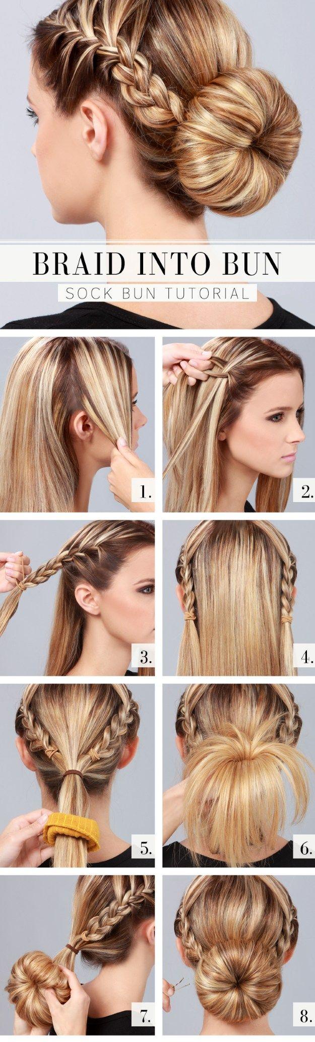 Braids and Bun Prom Hair Tutorial   Cute Hairstyles by Makeup Tutorials at  make...