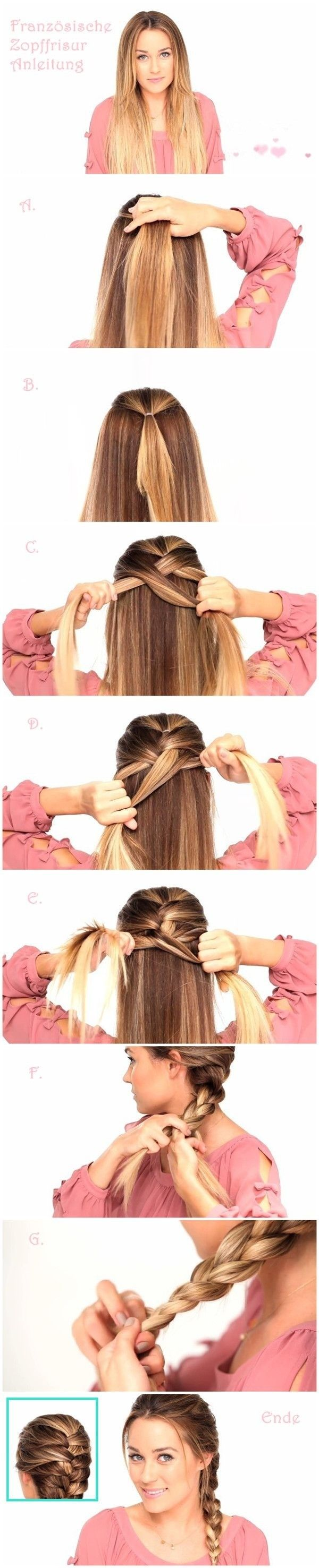 Easy Braided Hairstyles Tutorials: Trendy Hairstyle for Straight Long Hair   For...