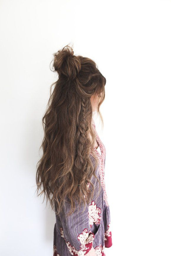 Hairstyles For Long Hair Half Up Messy Bun 9 Braided Hairstyles