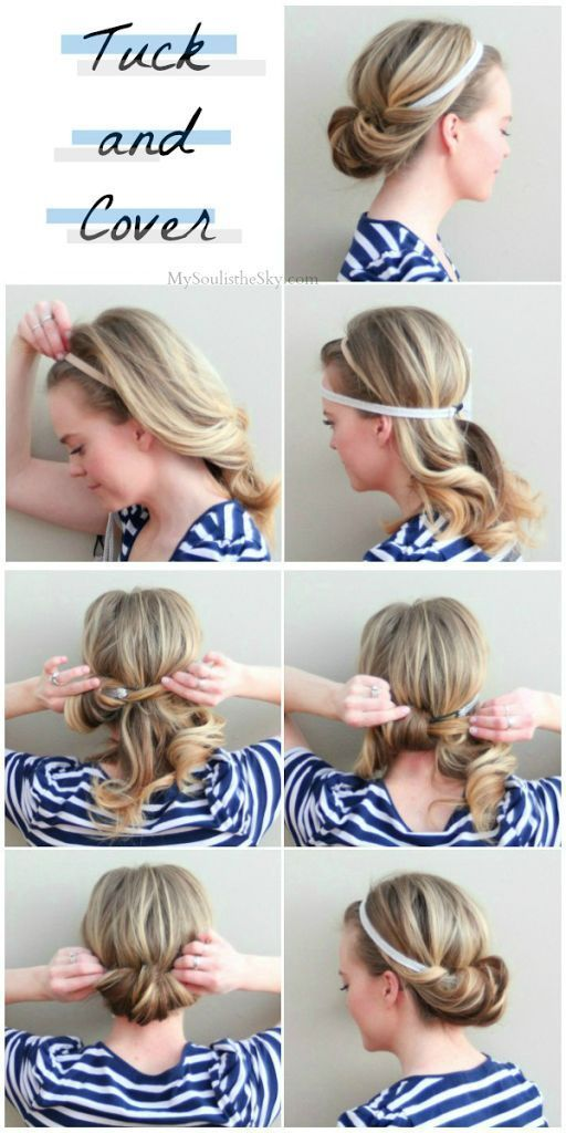 The Two-Minute Tuck | Easy and Cute Hairstyles For Long Hair and For Medium Hair...