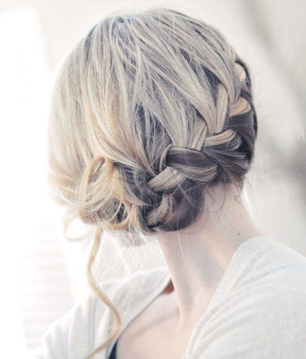 Two-tone Hair Braid   24 Perfect Prom Hairstyles   Makeup Tutorials Guide...