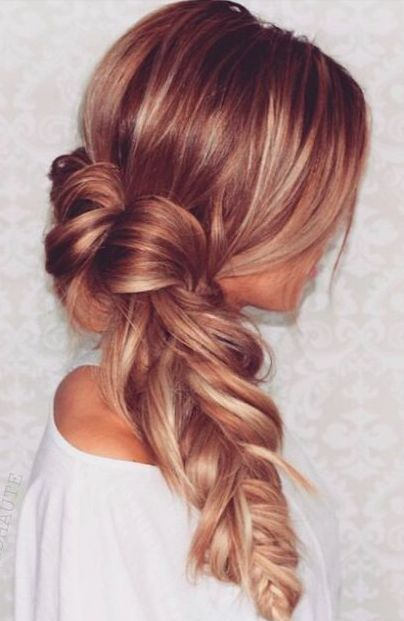 24 Impressive Braid Hairstyles Ideas. Messy and beautiful braid for women with l...