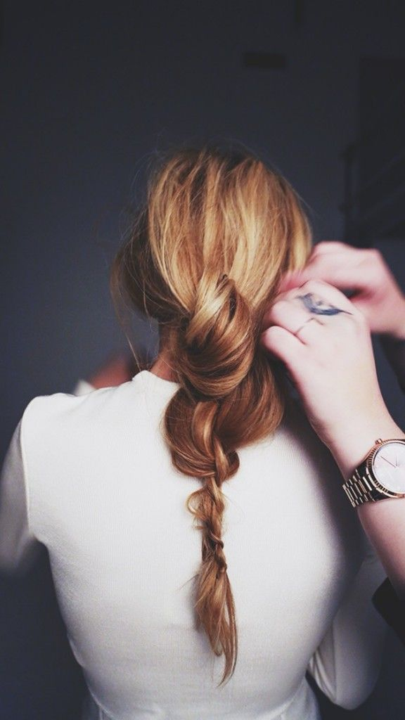 Fun braid, Ideas for a original hairstyle if you have long hair. Quick and easy ...