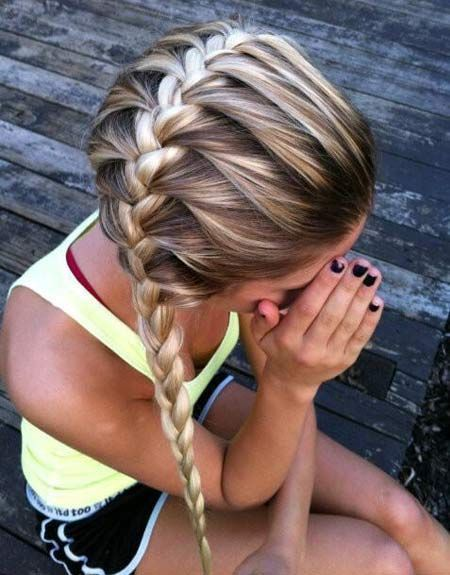 Girls French Braid Hairstyles, super cute good for girls camp...